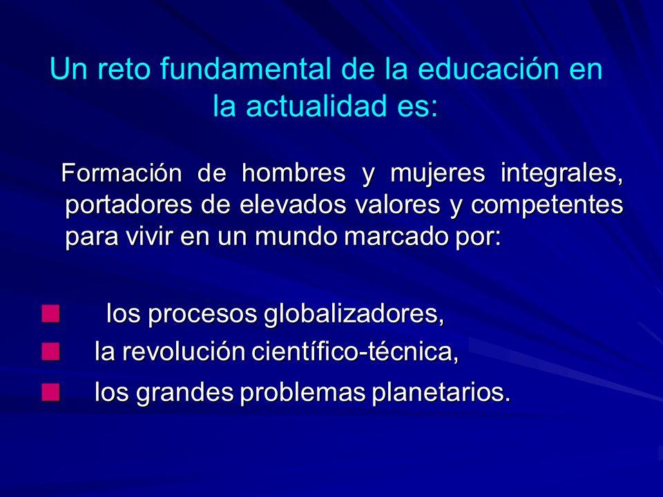Un reto fundamental de la educación en la actualidad es:
