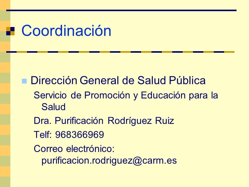 Coordinación Dirección General de Salud Pública