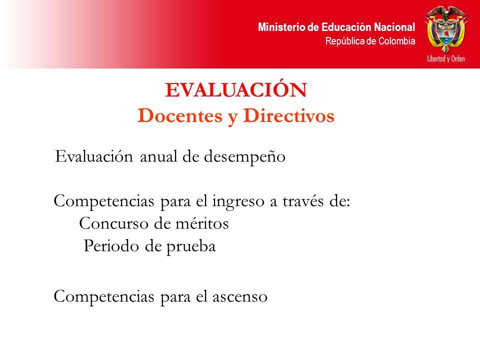 EVALUACIÓN Docentes y Directivos