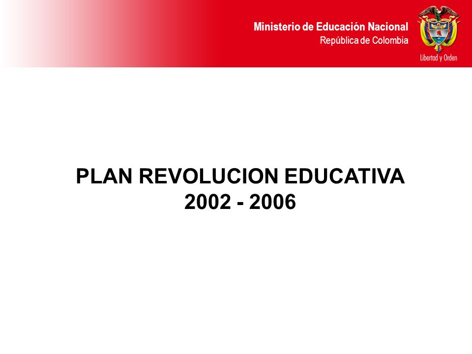 PLAN REVOLUCION EDUCATIVA