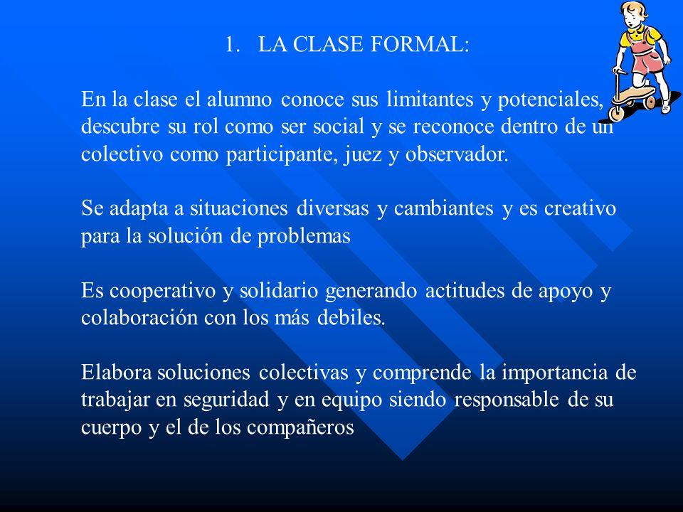 LA CLASE FORMAL: