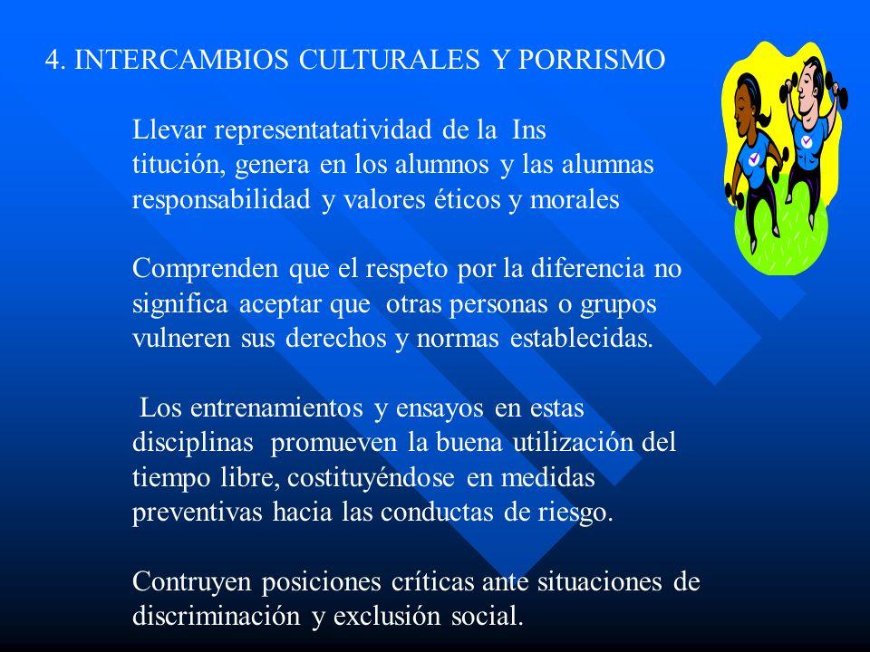 4. INTERCAMBIOS CULTURALES Y PORRISMO