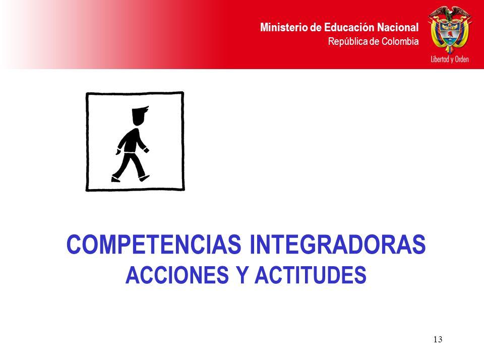 COMPETENCIAS INTEGRADORAS ACCIONES Y ACTITUDES