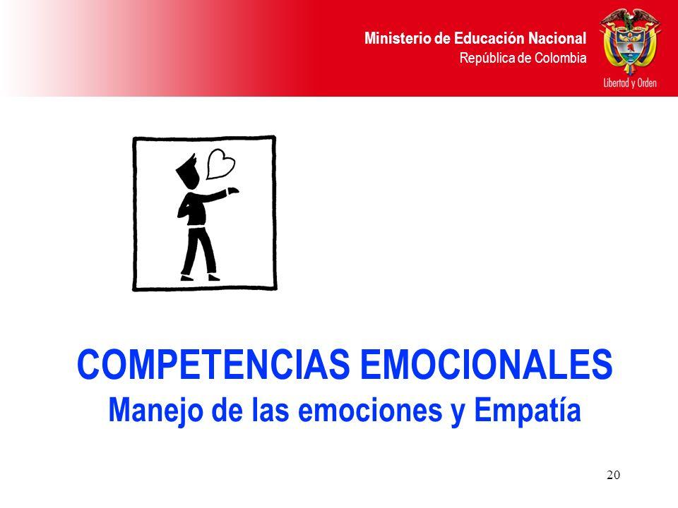 COMPETENCIAS EMOCIONALES Manejo de las emociones y Empatía