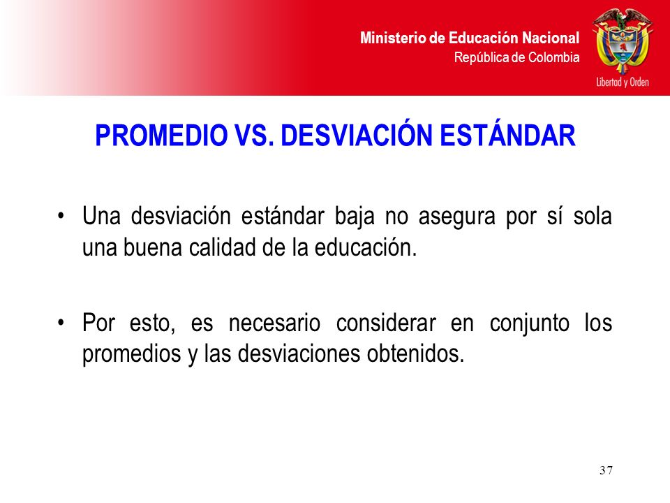 PROMEDIO VS. DESVIACIÓN ESTÁNDAR