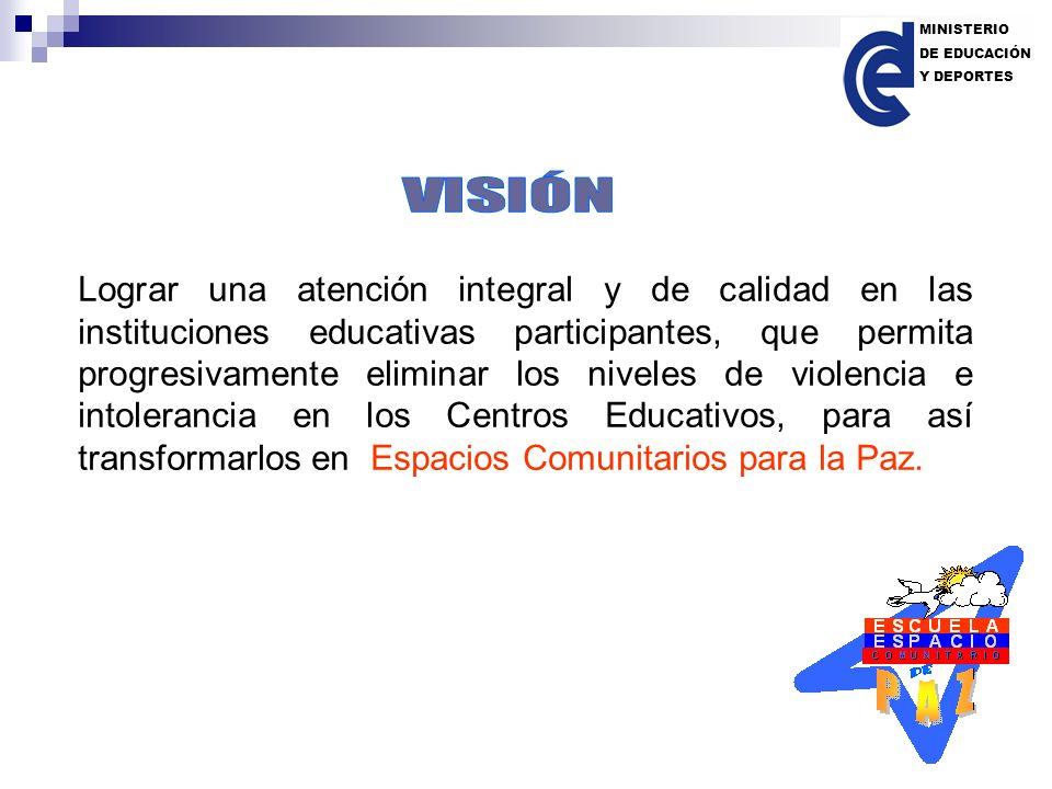 MINISTERIO DE EDUCACIÓN. Y DEPORTES. VISIÓN.