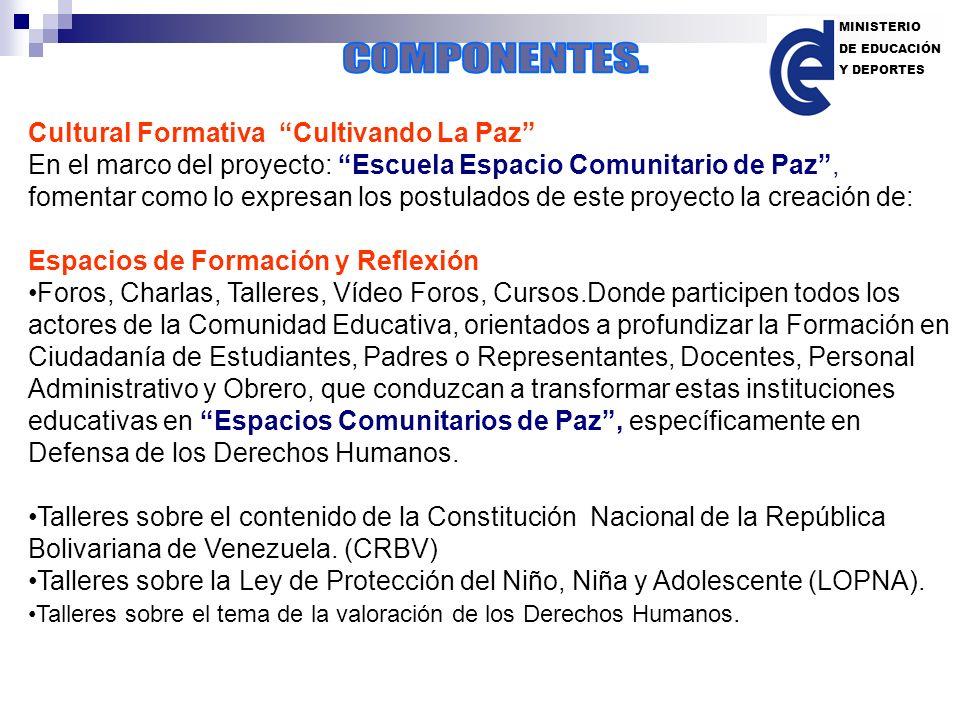 Cultural Formativa Cultivando La Paz