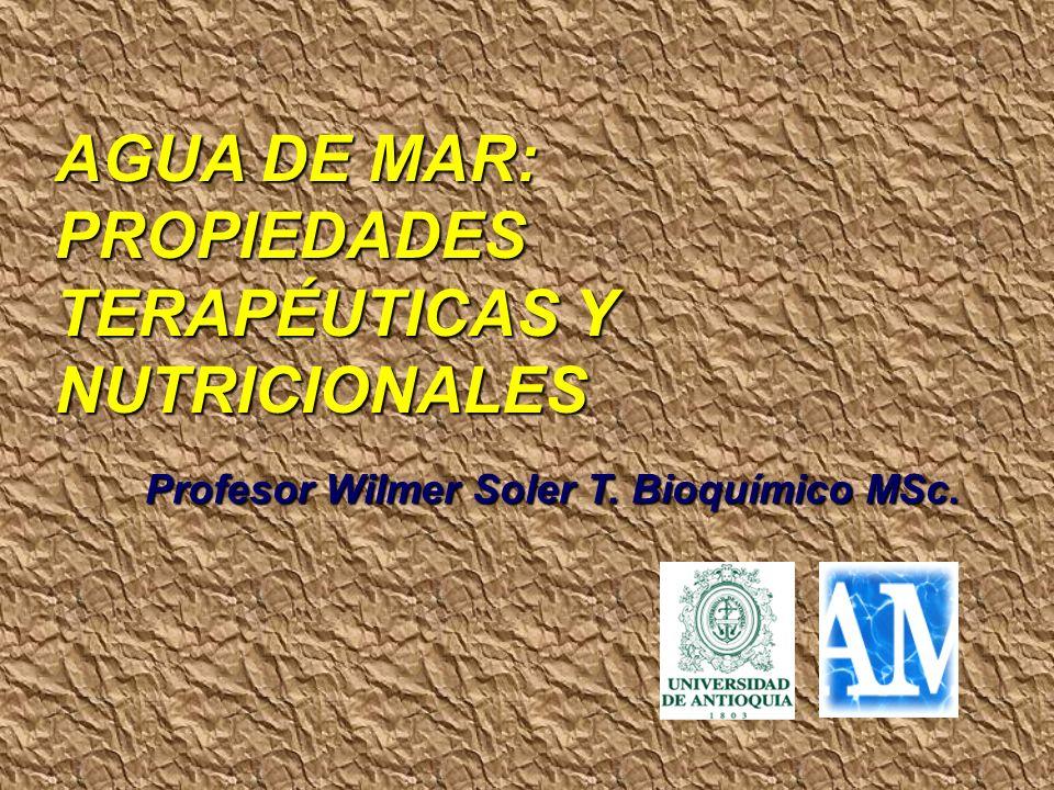 AGUA DE MAR: PROPIEDADES TERAPÉUTICAS Y NUTRICIONALES