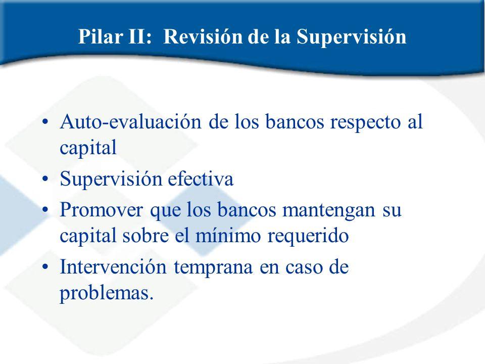 Pilar II: Revisión de la Supervisión