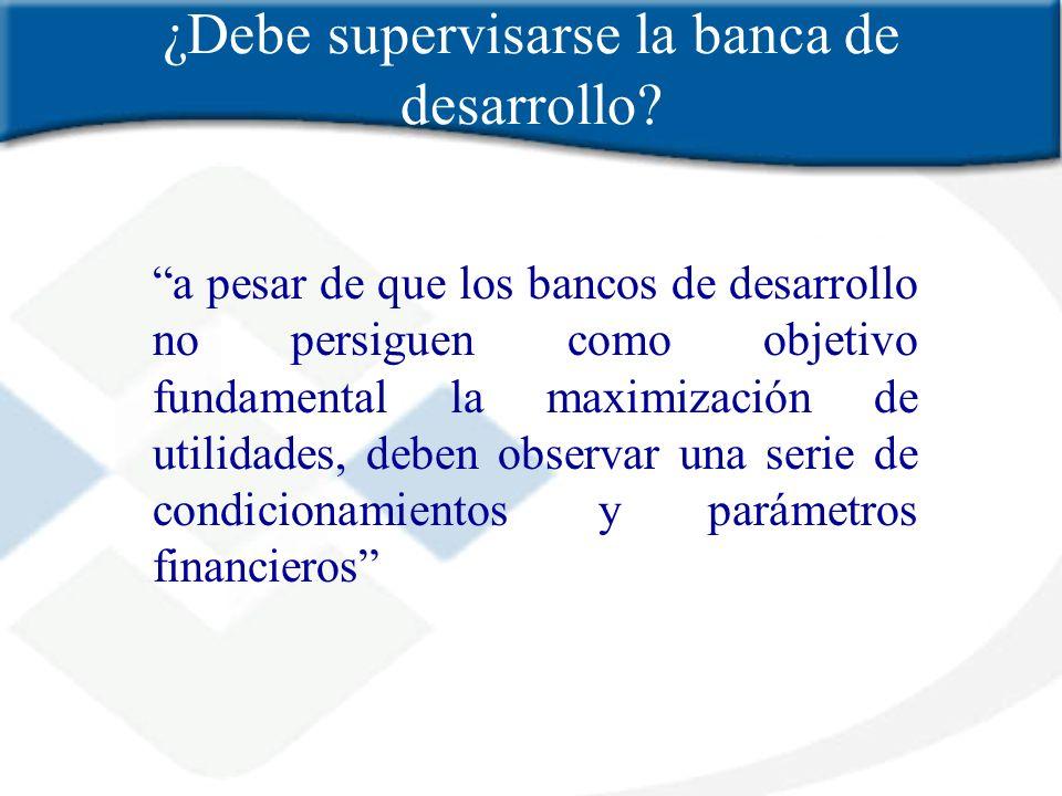 ¿Debe supervisarse la banca de desarrollo
