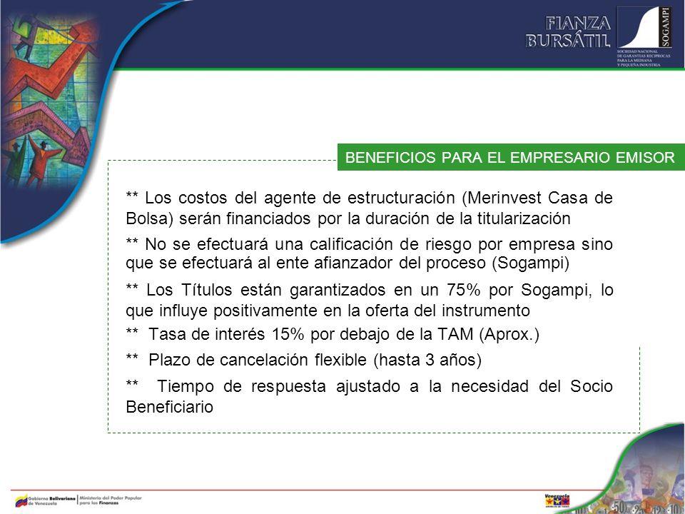 BENEFICIOS PARA EL EMPRESARIO EMISOR