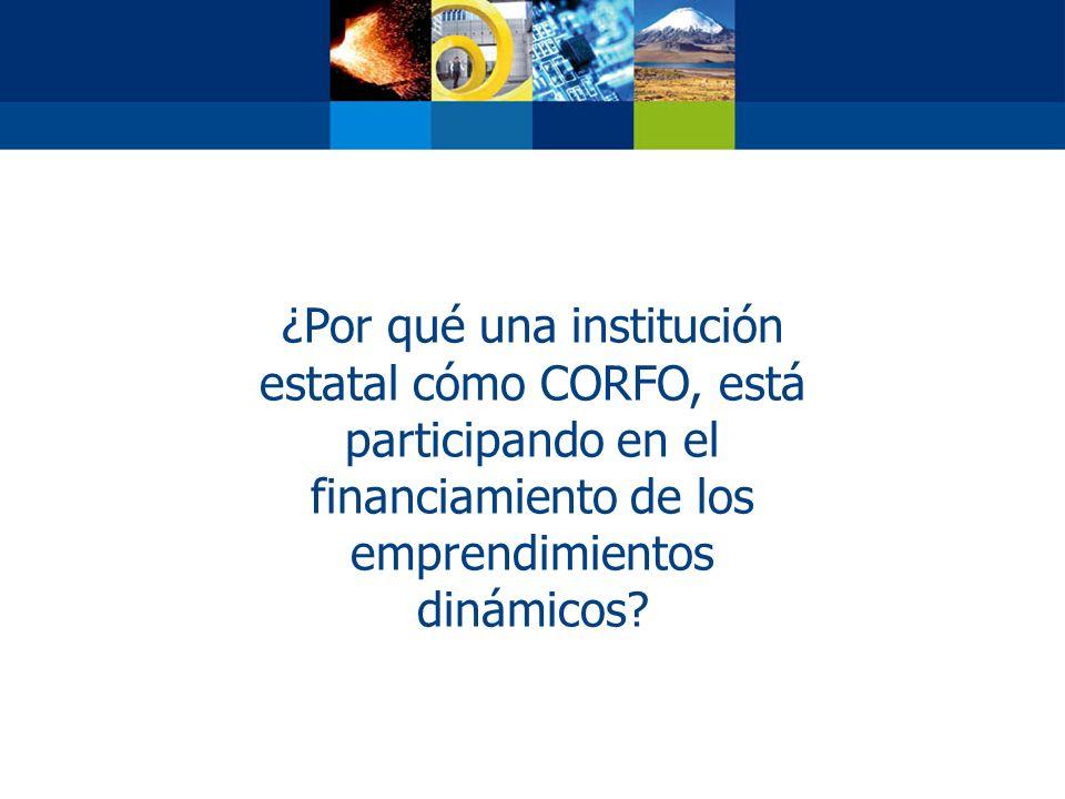 ¿Por qué una institución estatal cómo CORFO, está participando en el financiamiento de los emprendimientos dinámicos