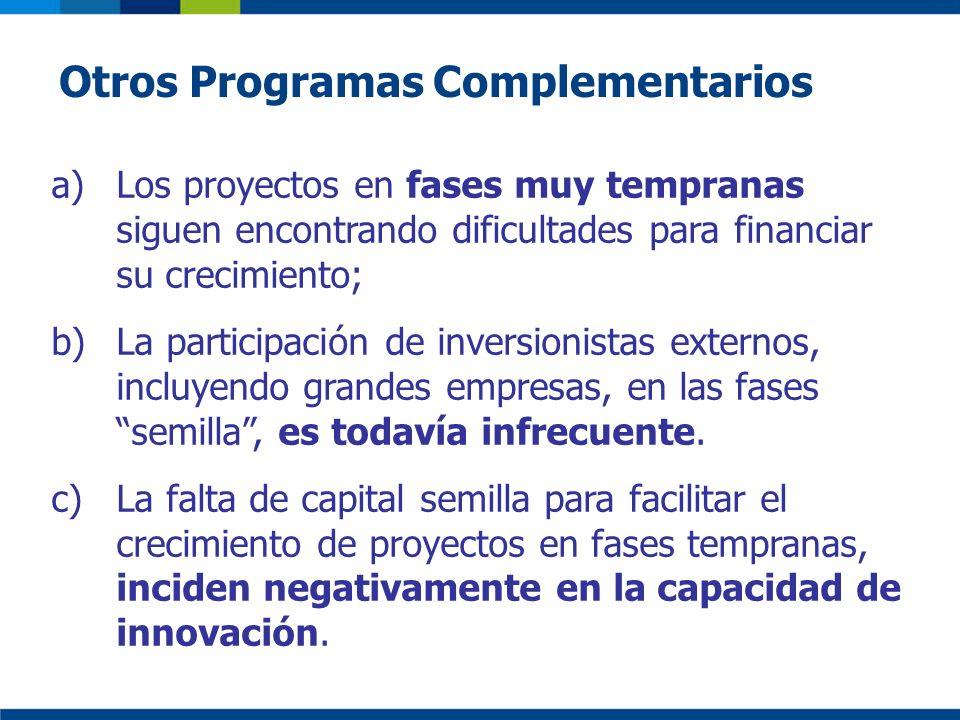 Otros Programas Complementarios