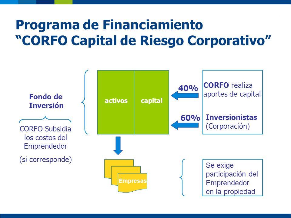 CORFO Subsidia los costos del Emprendedor