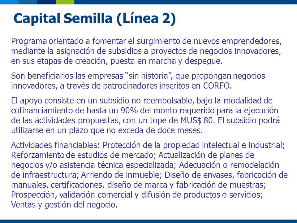 Capital Semilla (Línea 2)