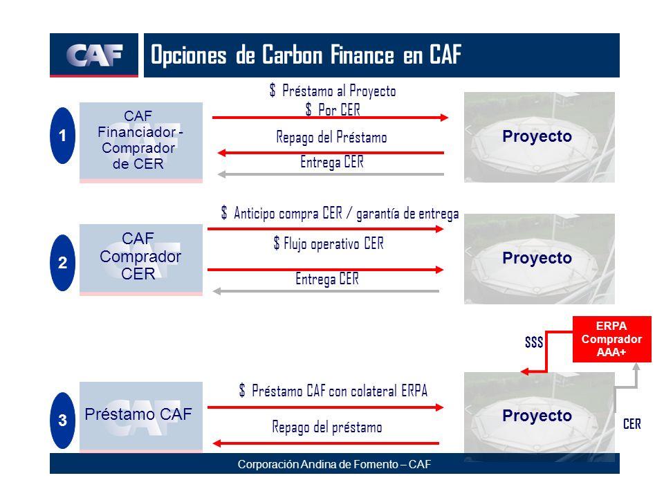 Opciones de Carbon Finance en CAF