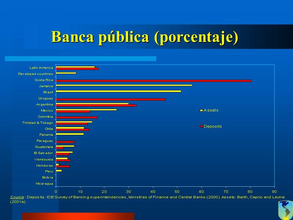Banca pública (porcentaje)