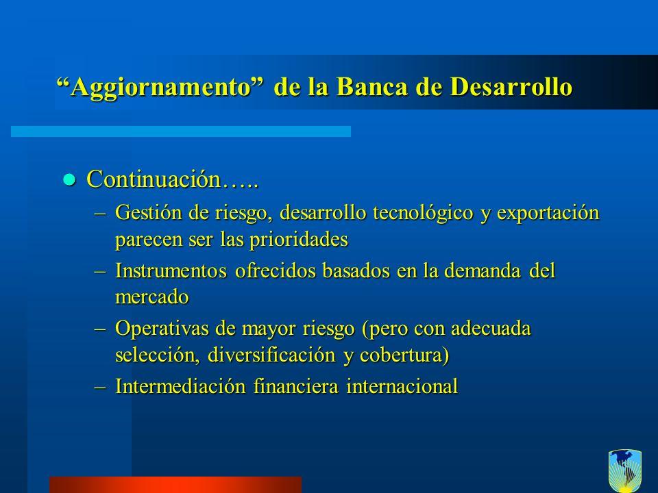 Aggiornamento de la Banca de Desarrollo