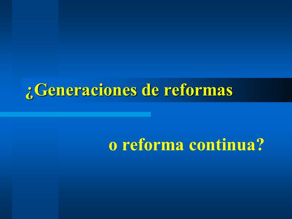 ¿Generaciones de reformas