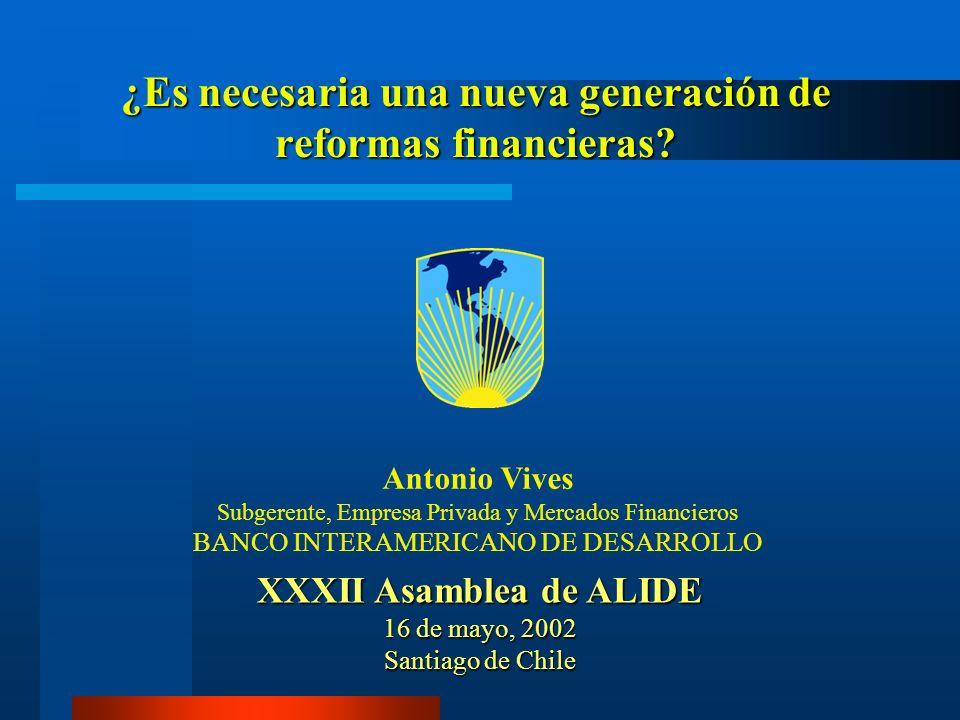 ¿Es necesaria una nueva generación de reformas financieras