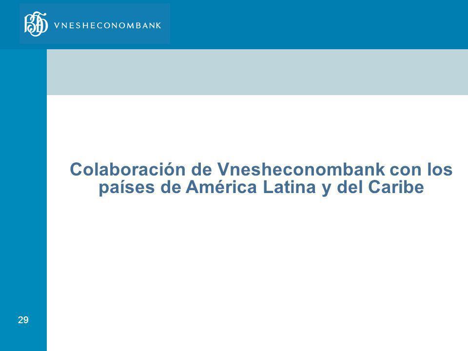 Colaboración de Vnesheconombank con los países de América Latina y del Caribe