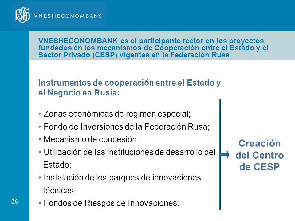 Creación del Centro de CESP
