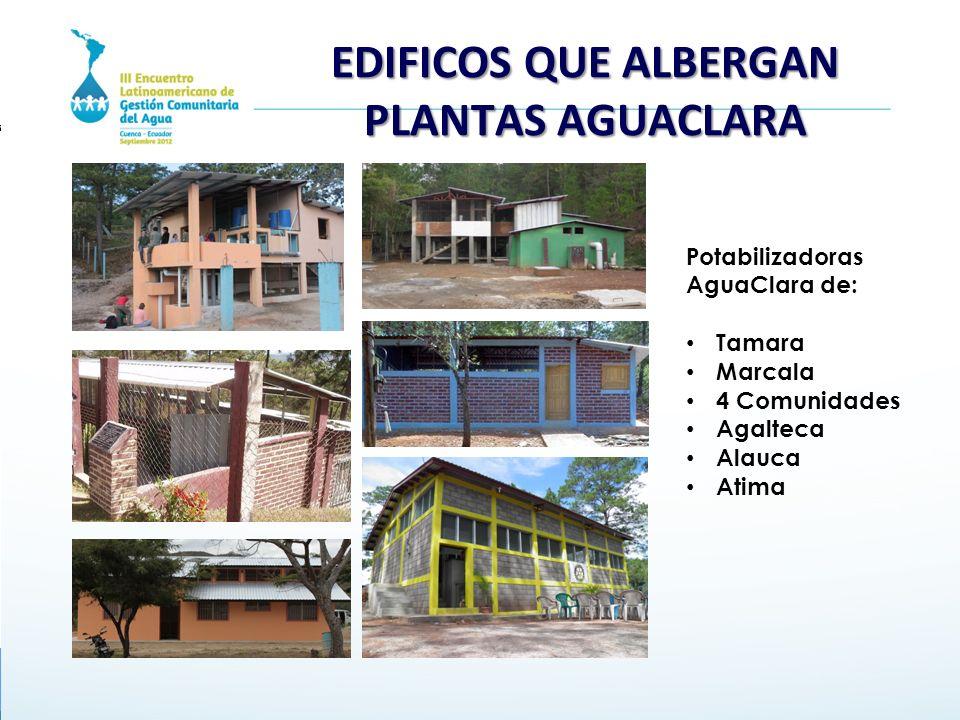 EDIFICOS QUE ALBERGAN PLANTAS AGUACLARA