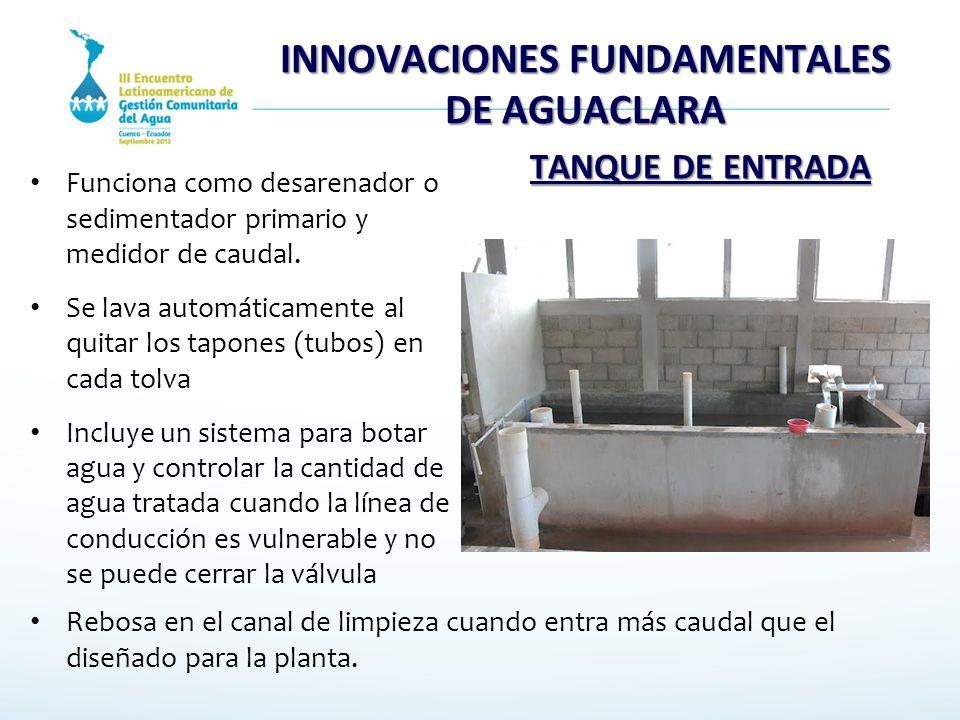 INNOVACIONES FUNDAMENTALES DE AGUACLARA