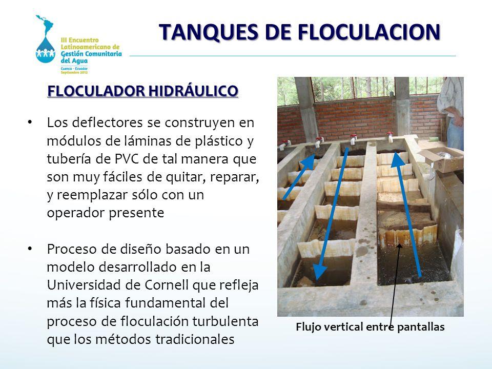 TANQUES DE FLOCULACION FLOCULADOR HIDRÁULICO