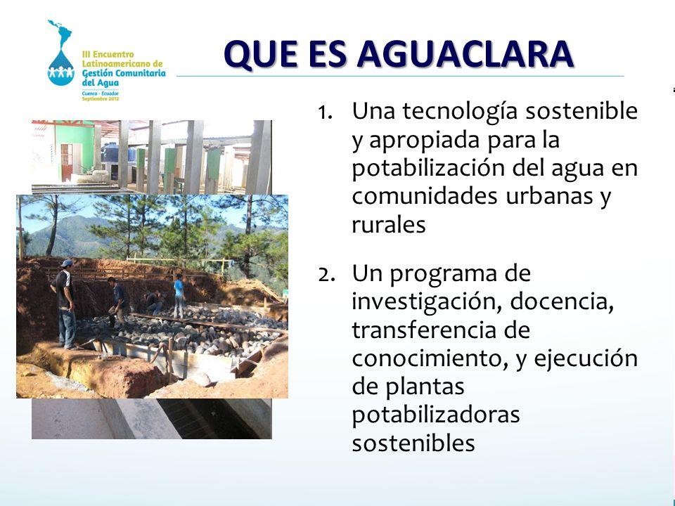 Aguaclara tecnologia modelo para potabilizar agua ppt for Tecnologia sostenible