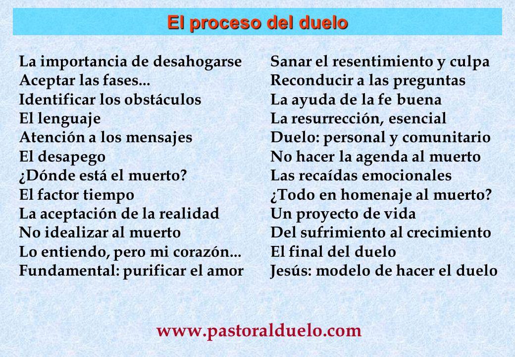 El proceso del duelo www.pastoralduelo.com