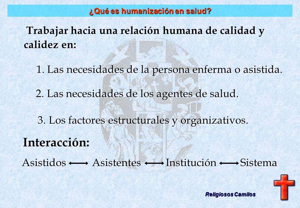 Trabajar hacia una relación humana de calidad y calidez en: