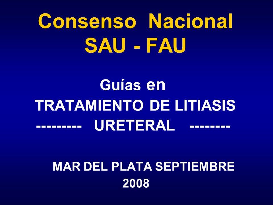 Consenso Nacional SAU - FAU