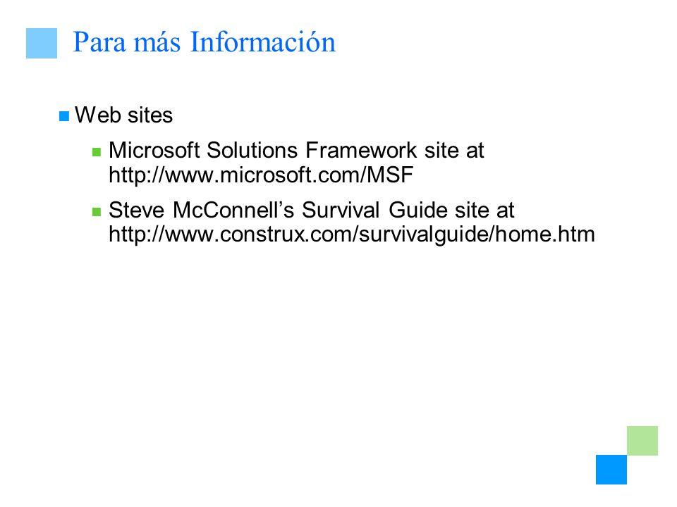 Para más Información Web sites