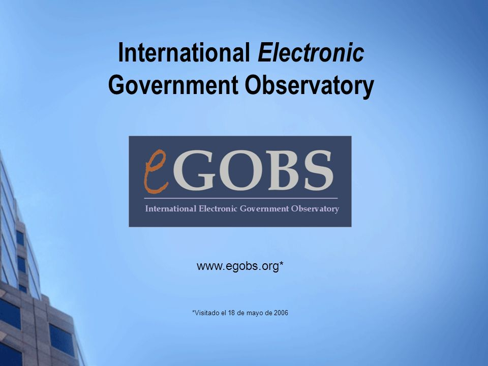 International Electronic Government Observatory