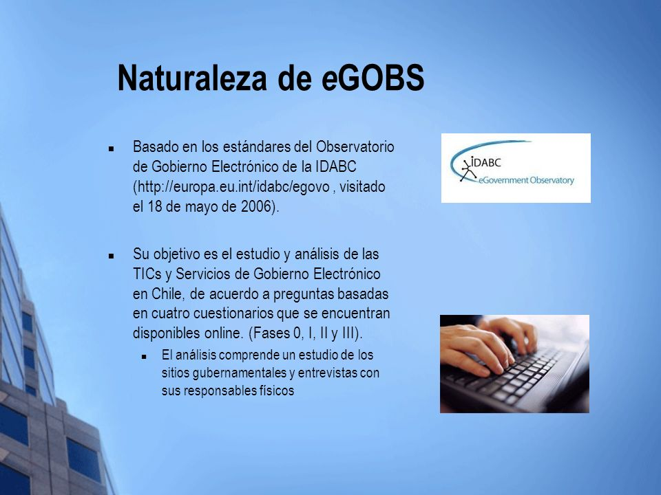 Naturaleza de eGOBS