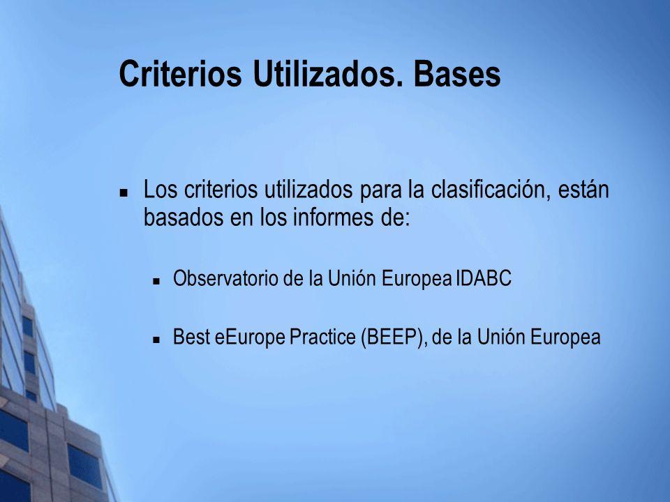 Criterios Utilizados. Bases
