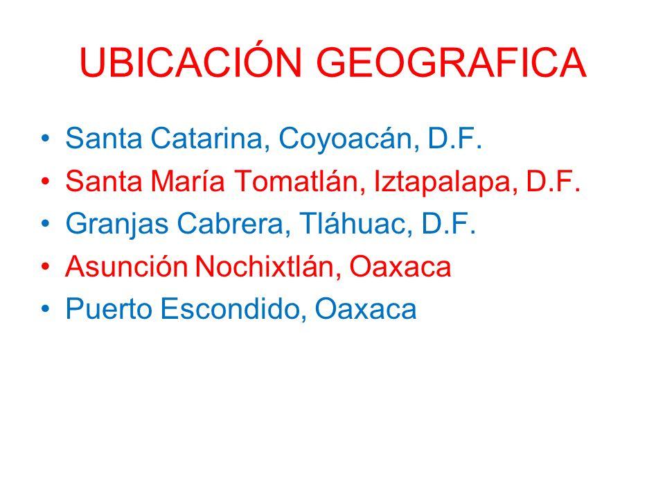 UBICACIÓN GEOGRAFICA Santa Catarina, Coyoacán, D.F.