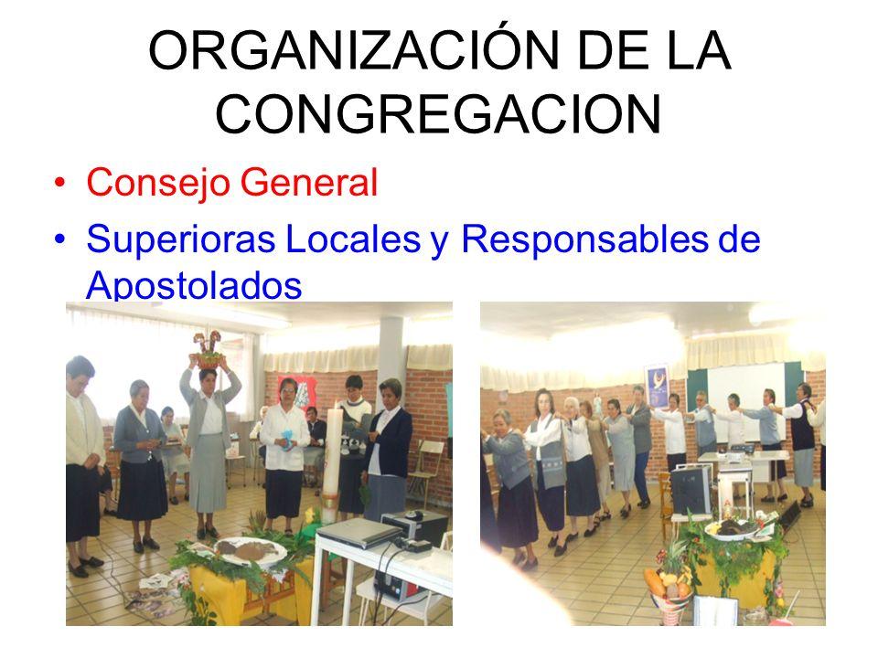 ORGANIZACIÓN DE LA CONGREGACION