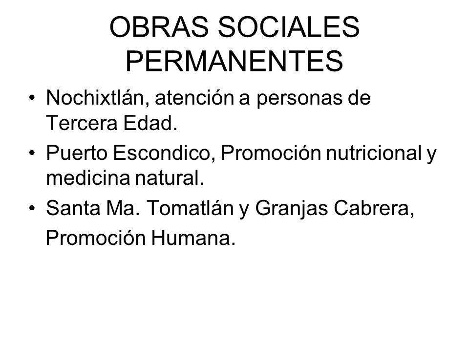 OBRAS SOCIALES PERMANENTES