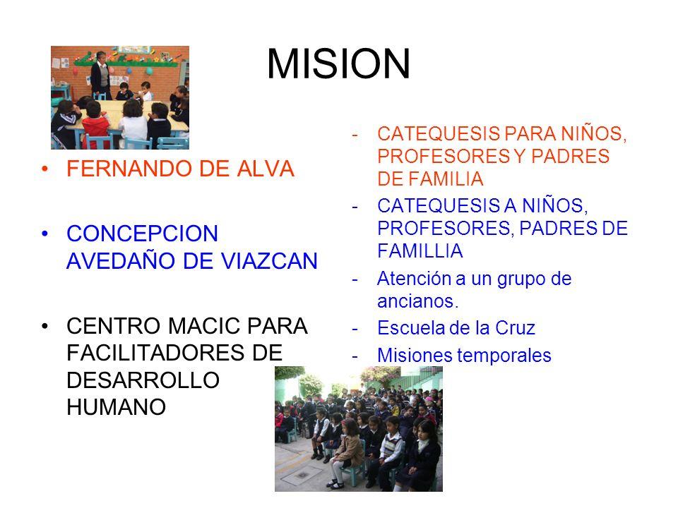MISION FERNANDO DE ALVA CONCEPCION AVEDAÑO DE VIAZCAN