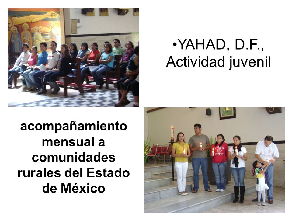 acompañamiento mensual a comunidades rurales del Estado de México