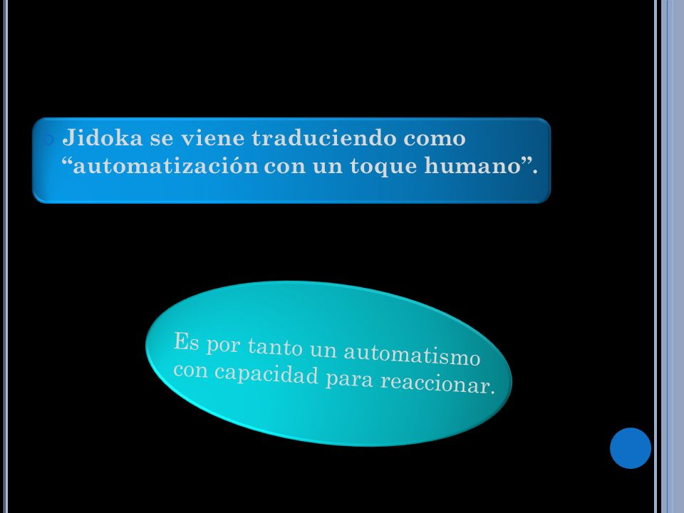 Jidoka se viene traduciendo como automatización con un toque humano .
