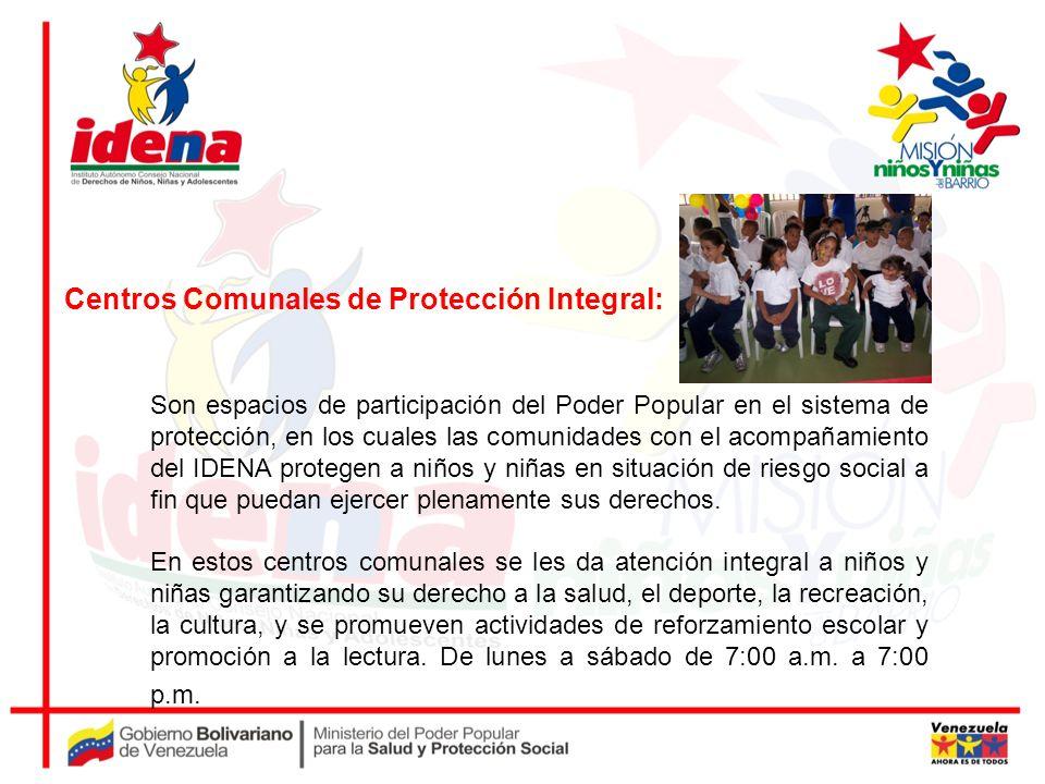 Centros Comunales de Protección Integral: