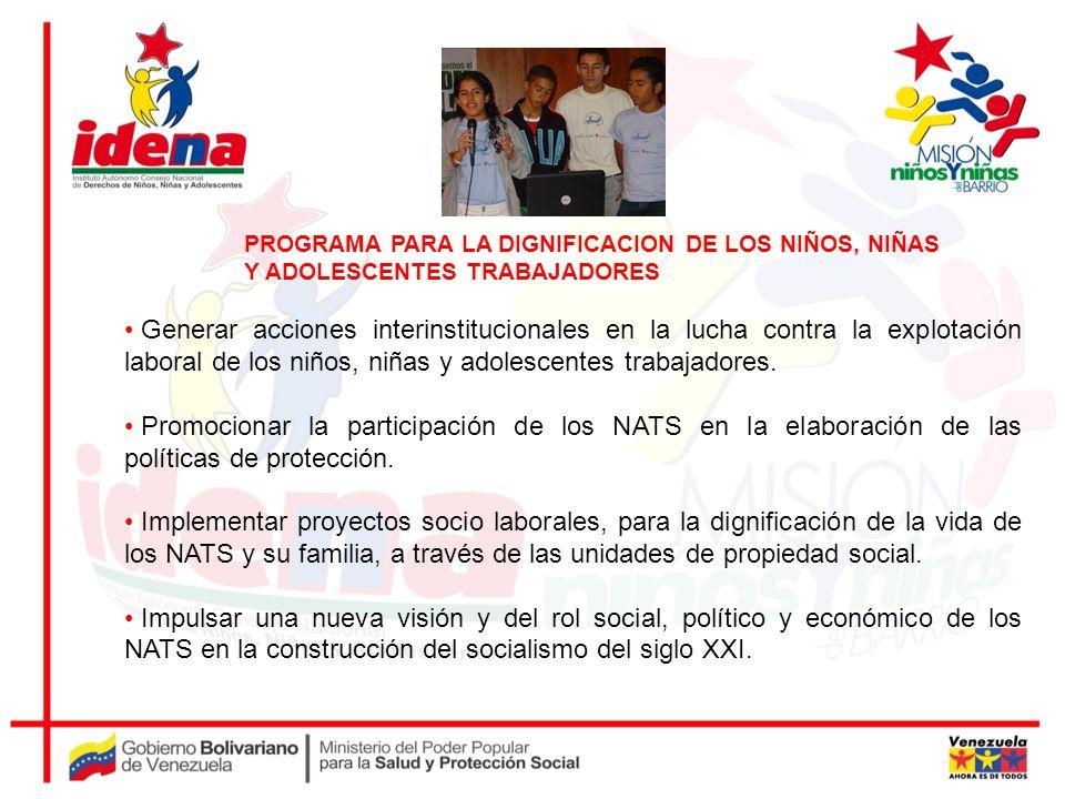 PROGRAMA PARA LA DIGNIFICACION DE LOS NIÑOS, NIÑAS