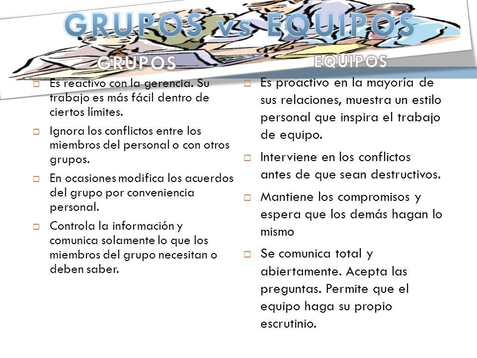 GRUPOS vs EQUIPOS GRUPOS EQUIPOS