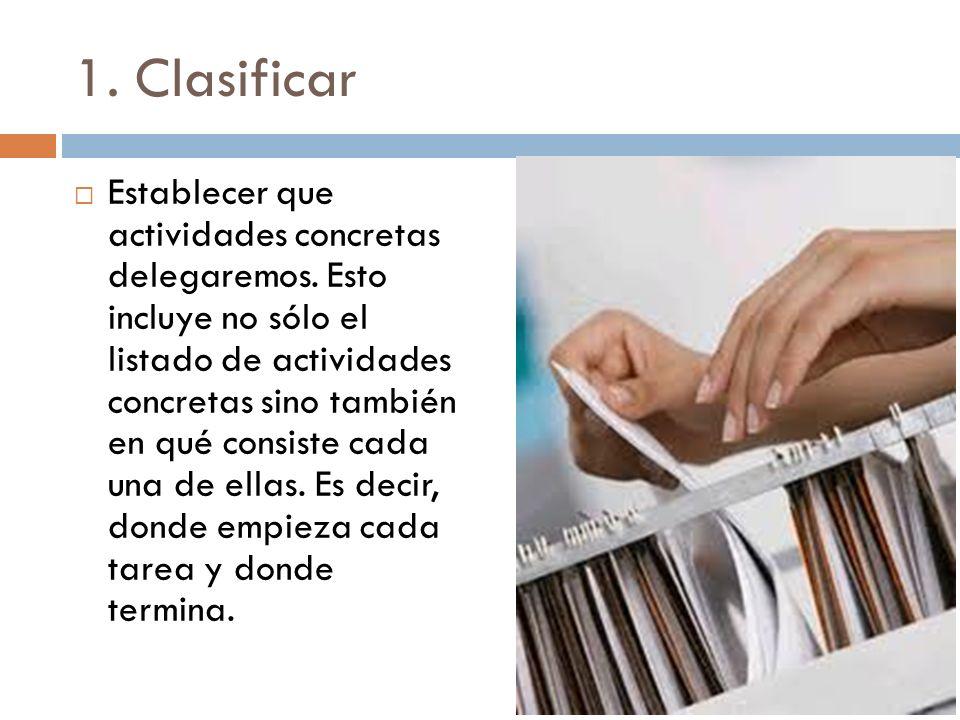 1. Clasificar