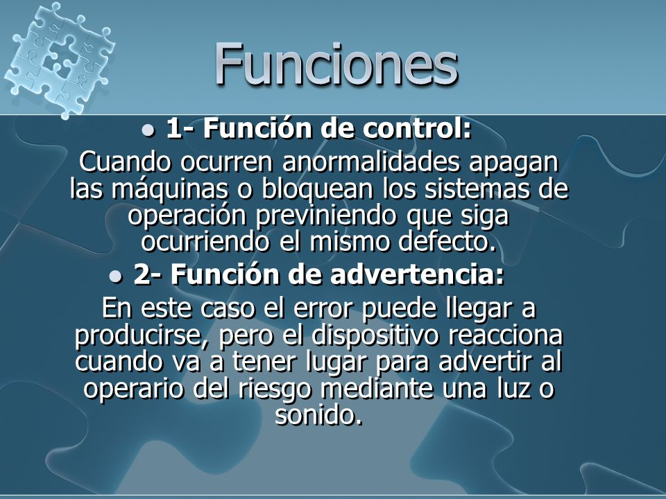 2- Función de advertencia:
