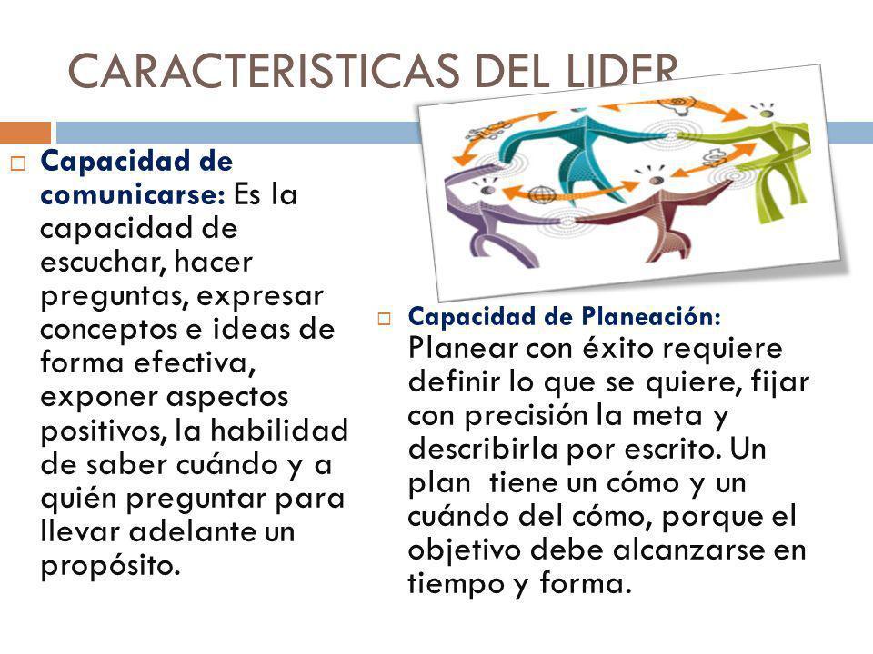 CARACTERISTICAS DEL LIDER