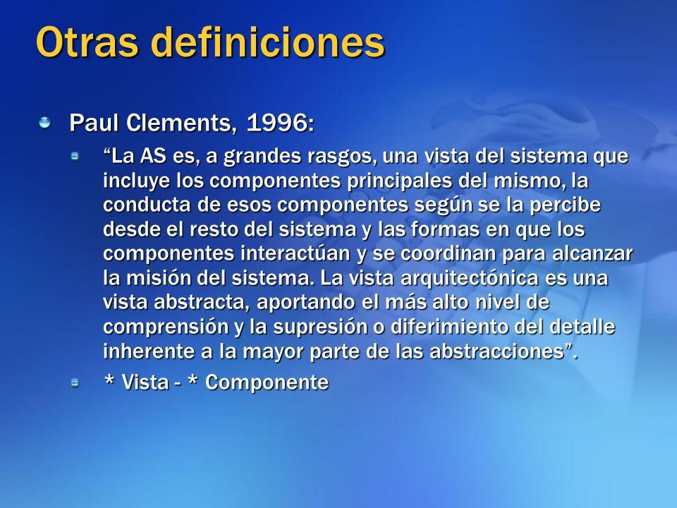 Otras definiciones Paul Clements, 1996: